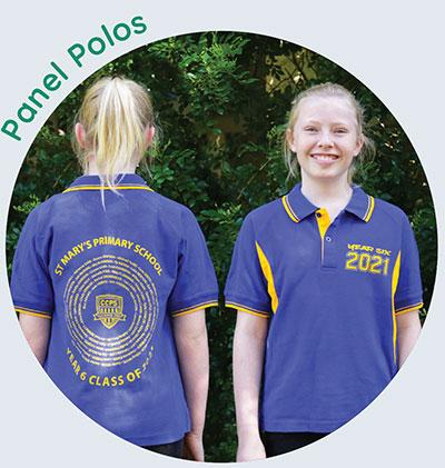 screen printed panel polos - Year 6 Shirts